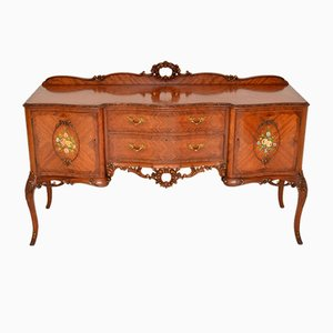 Antique French Inlaid King Wood Sideboard