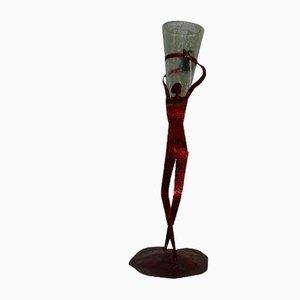 Handgefertigte stilisierte Lady Nachttischlampe