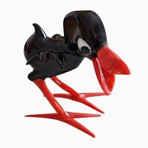 Mid-Century Murano Glass Raven by Archimede Seguso, 1960s