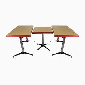 Vintage Formica Cafe Tables, Set of 3