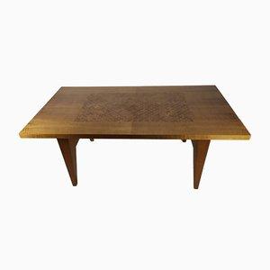 Ausziehbarer Tisch mit Intarsien, 1950er
