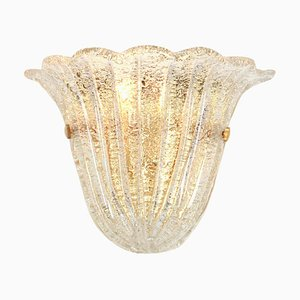 Murano Glass Wall Lights in the Style of Venini, Italy, 1970s