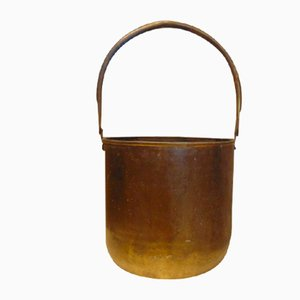 Art Deco Brass Flower Container