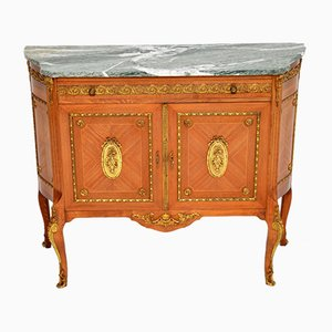 Antique French Ormolu Mounted Marble Top Cabinet