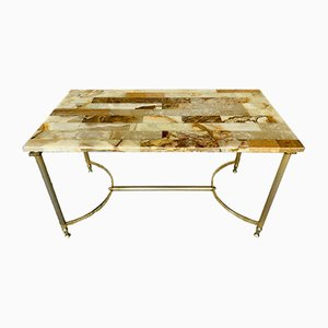 Mid-Century Marble & Onyx Coffee Table, 1960s or 1970s