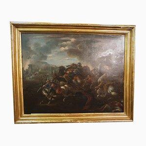 Francesco Monti Il Brescianino, Battle Against the Turks, 17th Century, Oil on Canvas