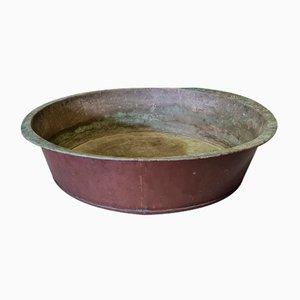 Großer antiker Behälter oder Pflanzer aus Kupfer, 19. Jh