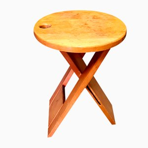 Wooden Suzy Folding Stool by Adrian Reed