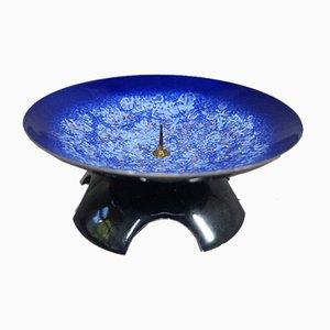 Blau emaillierter Kerzenständer von Expertic, 1960er