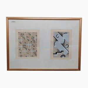 Stencil decorativi di Serge Gladky, 1928, set di 2