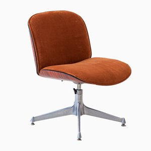 Rosewood & Leather Swivel Desk Chair by Ico & Luisa Parisi for MIM, 1950s