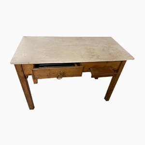 Wood & Marble Table, 1940s