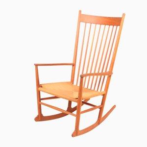 Rocking Chair Mid-Century Scandinave en Chêne par Hans Wegner pour FDB, 1950s