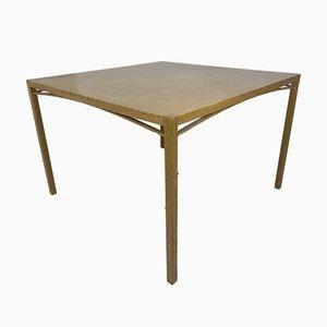 Modernist Oak and Ash Square Slat Table by Ruud Jan Kokke, 1980s