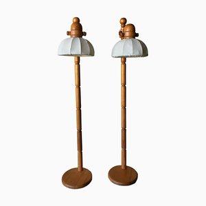 Swedish Pine Lamp, 1980s