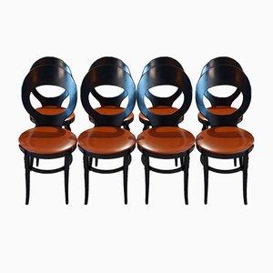 Sedie da pranzo Mouette di Baumann, anni '70, set di 8