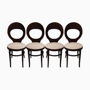 Sedie da pranzo Mouette di Baumann, anni '70, set di 4