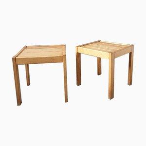 Brutalistische Tische, 2er Set