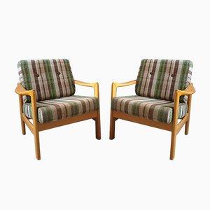 Scandinavian Armchairs, Set of 2