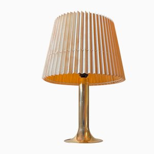 Large Trumpet Table Lamp in Brass from Fog & Mørup, 1970s