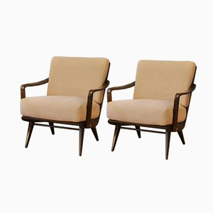 Mid-Century German Upholstered Cocktail Chairs, 1950s, Set of 2