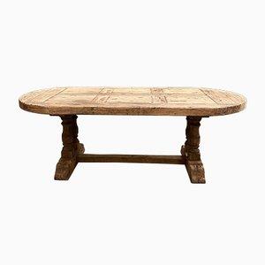 Tavolo da monastero grande in quercia