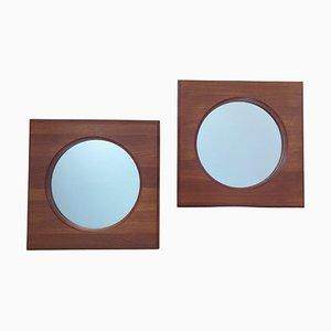 Teak Wall Mirrors from Hadsten Traeindustri, Denmark, 1960s, Set of 2