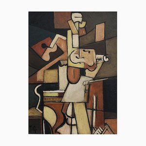 The Violinist by J.G., 1960s-70s