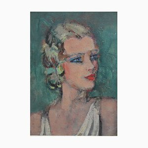 Young Woman in Profile, French School, 1920s-30s