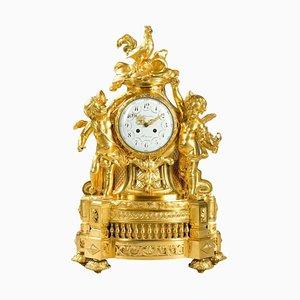 Uhr aus vergoldeter Bronze