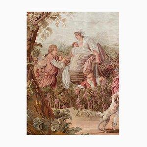 19th Century Tapestry Harvest Scene