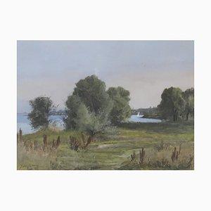 Louis Charles Jules Crosnier, Chemin au bord du Lac, 1927