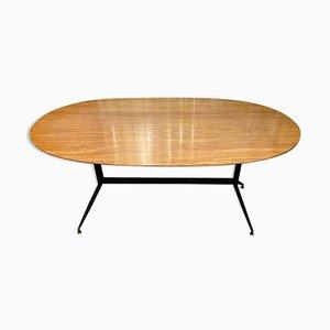 Italienischer ovaler Esstisch, 1960er