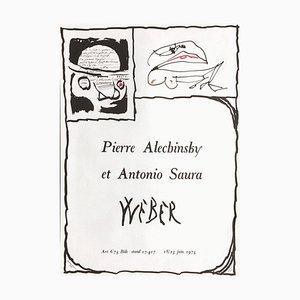 Pierre Alechinsky, Art 6'75 Bâle Weber, Alechinsky et Saura