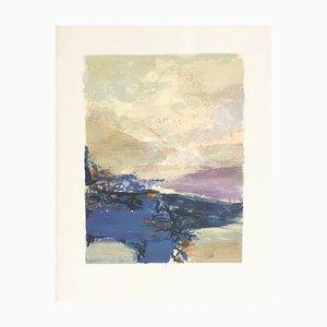 Zao Wou-Ki, Composition 344, Voeux, 1990