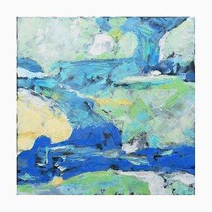 Andrew Francis, Weight of Air II, 2019, Enkaustik Gemälde