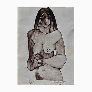 Geoffrey Key, Study of a Nude, 1978
