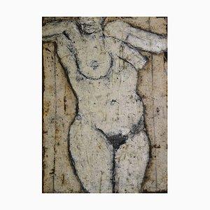 John Emanuel, Figura in piedi, 1980, Pittura ad olio