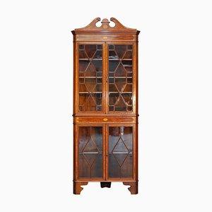 Antique Sheraton Revival Corner Cabinet