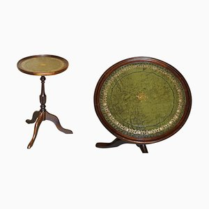 Vintage Green Leather Vintage Side Table from Bevan Funell