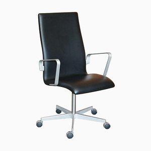 Oxford Classic Leder Armlehnstuhl mit hoher Rückenlehne von Fritz Hansen