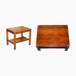 Burl Yew Wood Coffee Table
