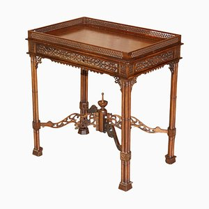 19th Century Carved Silver Tea Table