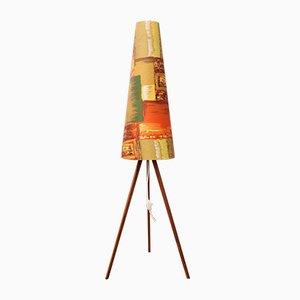 Vintage Tripod Teak Floor Lamp, 1960s