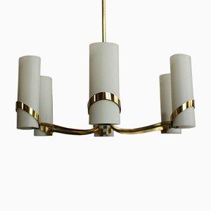 Vintage Ceiling Lamp in Brass from Stilnovo