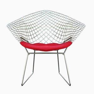 True Vintage Knoll International Diamond Chair Chrome 70s by Harry Bertoia