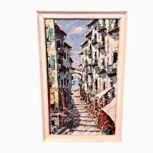 Vintage Mediterranean Painting, 1960s,