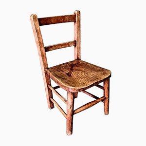 Elm Childrens Chair, Mid 20th Century.