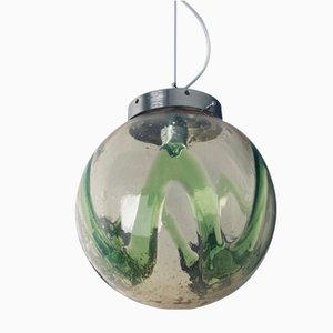 Lámpara colgante italiana de cristal de Murano de Mazzega