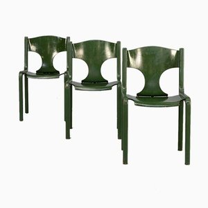 Esszimmerstühle von Augusto Savini für Wells, 1960er, 3er Set